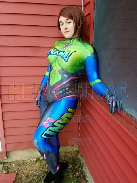 NANO MECH D.Va Costume Overwatch Printed Costume