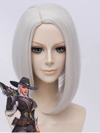 Overwatch Cosplay Ashe Silver Cosplay Wig