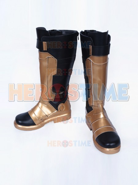 Overwatch SOLDIER:76 Male Verson Gold Cosplay Boots