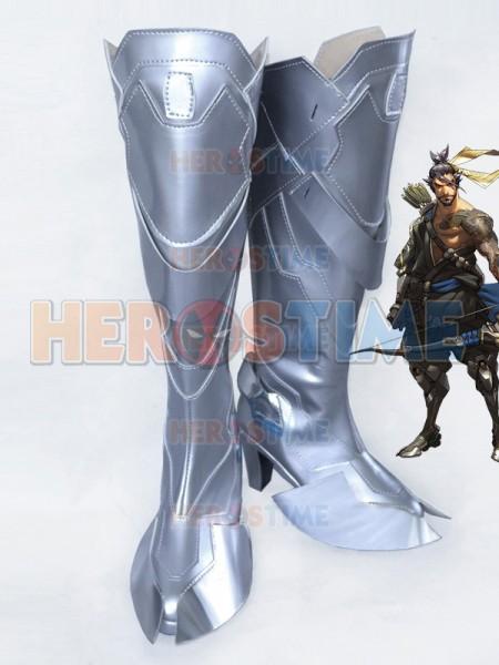 Overwatch Shimada Hanzo Girls High Heels Cosplay Boots