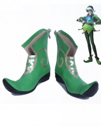 Overwatch Tracer Christmas Version Green Cosplay Costume