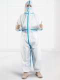 Disposable Medical Protective Gown Anti-Virus Gown Free Size Disposable Gown