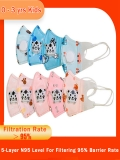 Kids KN95 Facemasks With Breather Valve 5 Layers