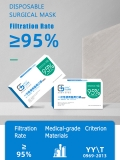 Disposable Surgical Mask 99% Filtration 10 PCS