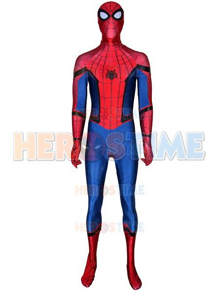Traje de regreso a casa de Spider-Man con correas de pintura de hojaldre