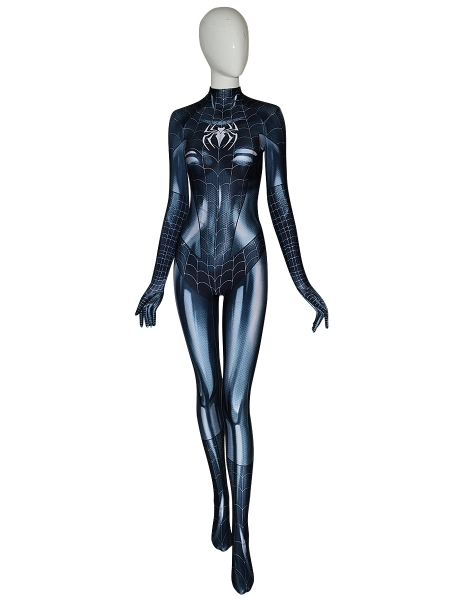 Black Cat Symbiote Cosplay Costume With Puff Paint