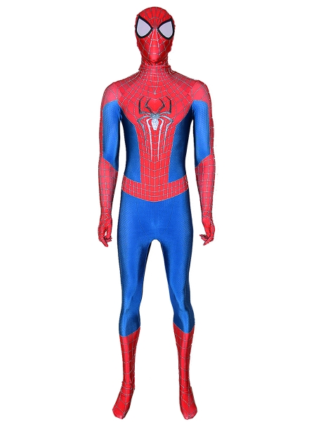 The Amazing Spider-Man 2 Costume With Puff Paint Webbing & Spider