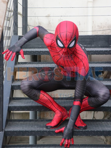 Far From Home Spider-Man Suit With Puff Paint Webbing
