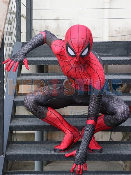 Traje de Spider-Man lejos de casa con correas de pintura de hojaldre