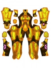 Samus Zero Cosplay Costume Gold / Orange Samus Zero Girls' Costume