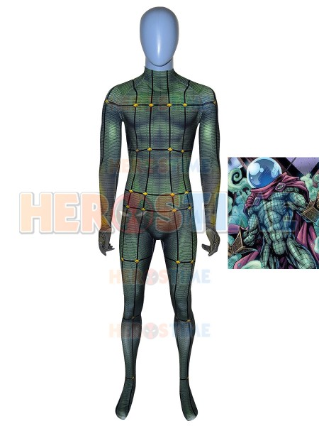 Mysterio Cosplay Costume Spider-Man: Far From Home Movie Mysterio Suit