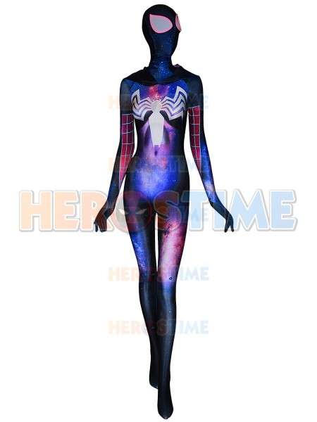 Gwenom Galaxy Texture Cosplay Costume Symbiote Gwen Stacy Cosplay Suit