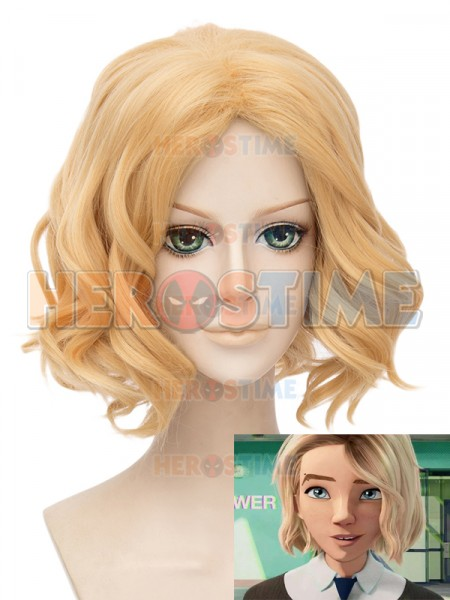 Spider-Man Into the Spider-Verse Gwen Stacy Cosplay Wig