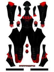 2019 Spiderman Miles Morales ISV Costume Into Spider-Verse Spider-man Cosplay Suit