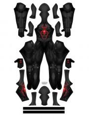 PS4 Marvel's Spider-Man Dark Suit Spiderman Superhero Costume