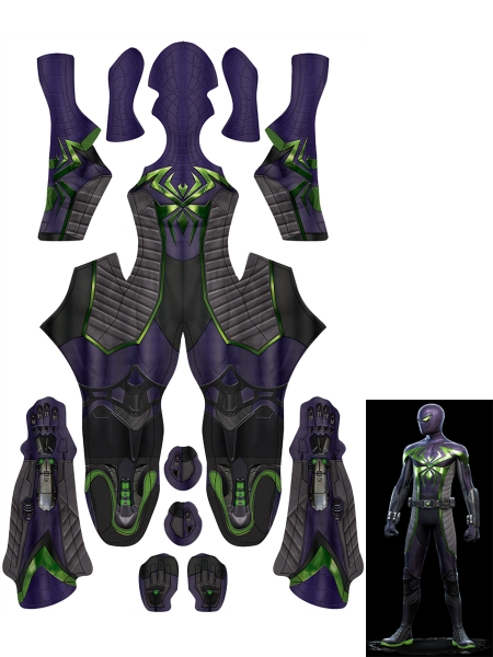 Spider-Man: Miles Morales Purple Reign Suit Spider-Man Costume