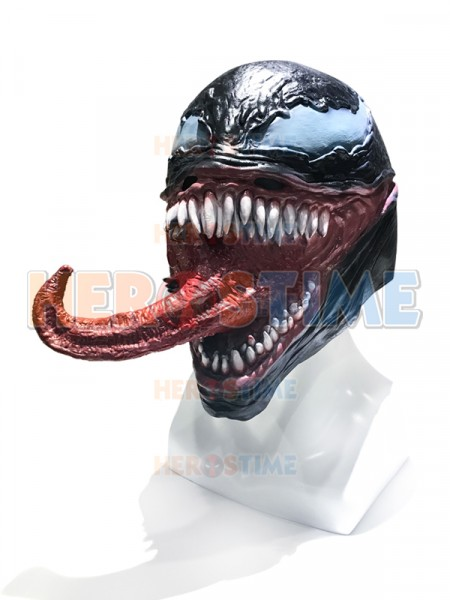 Venom Mask Movie Version Supervillain Latex Cosplay Mask
