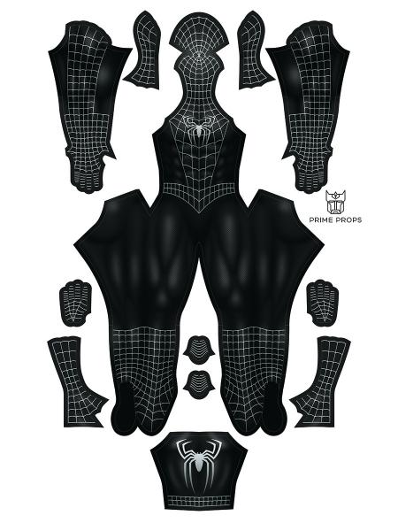Disfraz de Raimi Symbiote Spider-Man Disfraz de Spider-Man negro