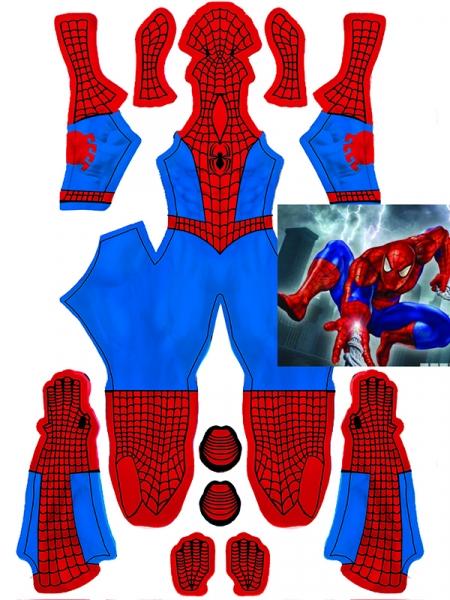 Disfraz Clásico de Spider-Man con Sombra Muscular Cosplay