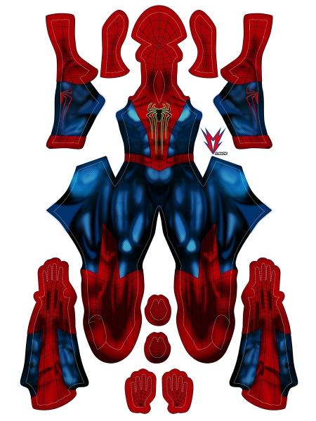 Disfraz Mezclado de Amazing Spider 2 y Spider Armor MK IV Cosplay