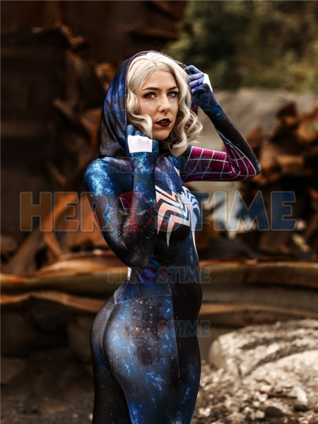 Gwenom Symbiote Gwen Stacy Suit Galaxy Look Gwen Suit