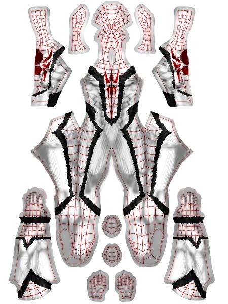 Anti Venom Spider-man Printing Cosplay Costume