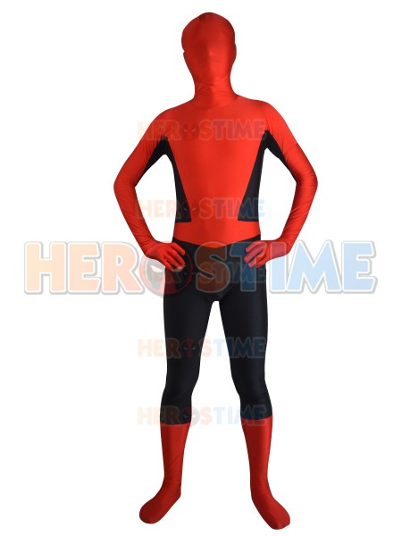 Navy Blue & Red Spider-man Design Zentai Fullbody Suit