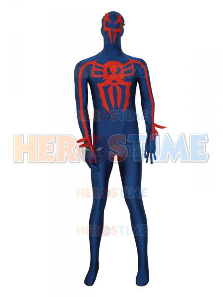 Spider-man 2099 Navy Blue Spandex Custom Superhero Costume