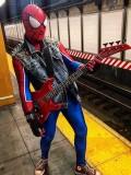 Spider-Punk Costume 3D Printing Punk-Rock Spider-man Costume