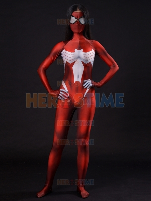 Ultimate Spider-Woman Costume Red Ultimate Spider Woman Cosplay Suit