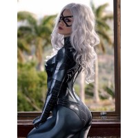 2017 Newest Black Cat Symbiote Female Cosplay Costume