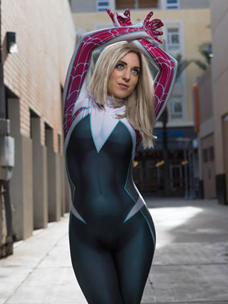 Traje de Spider-Man  Disfraz de Cosplay de Gwen Stacy Ghost-Spider