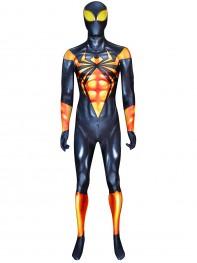 Black Iron Spider-man Printing DyeSub Cosplay Costume