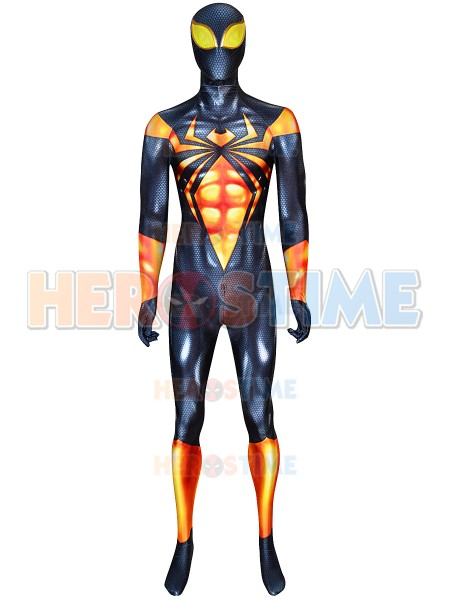 Black Iron Spider-man Printing DyeSub Cosplay Costume