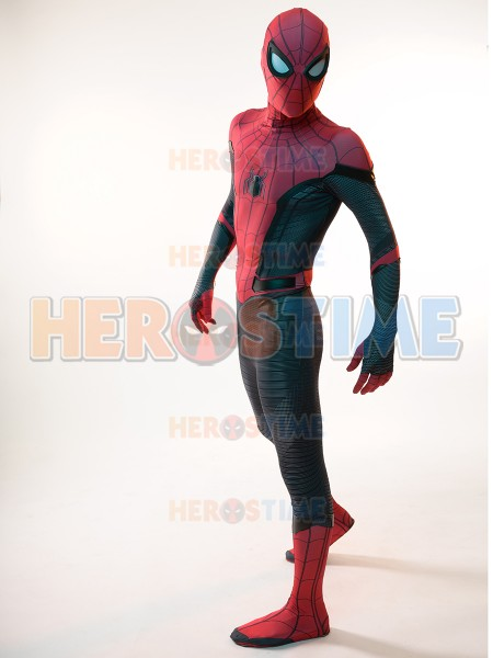 Spider-Man Far From Home Spiderman Costume Kids Adult Cosplay Halloween Costume