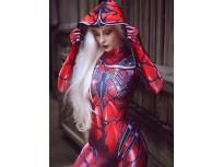 Disfraz de Cosplay de Carnage Gwen Spider Femenino  Traje de Impresión de tinte