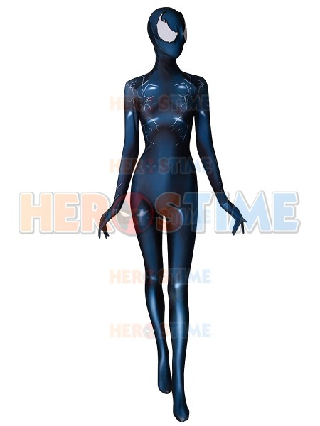 2018 Newest Female Venom Printing Cosplay Costume