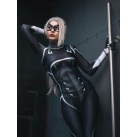 Spider-man PS4: The Heist  Traje de Black Cat Cosplay Traje adulto y niño