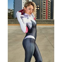 Gwen Stacy Suit Spider-Man: Into the Spider-Verse Superhero Costume