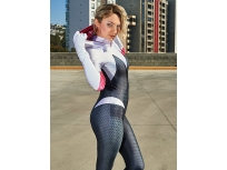 Gwen Stacy Suit Spider-Man: Into the Spider-Verse Superhero Costume Adult & Kid