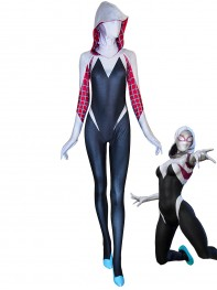 Gwen Stacy Suit Spider-Man Cosplay Printing Costume