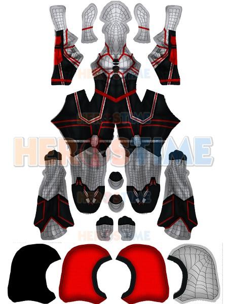 2019 Último Traje de Spider-man para Halloween Cosplay con Capucha