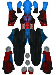 Spider-Man Cosplay Costume Captain America Costume Halloween Hybrid Suit