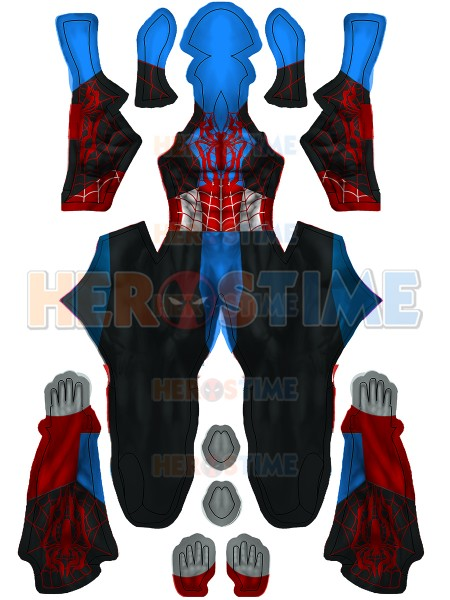 Spider-Man Cosplay Disfraz híbrido de Capitán América para Halloween