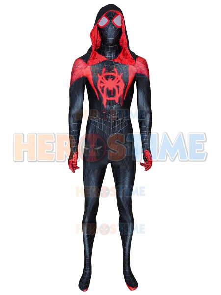 Traje de hombre araña Traje de Miles Morales con Gwen Stacy Hood