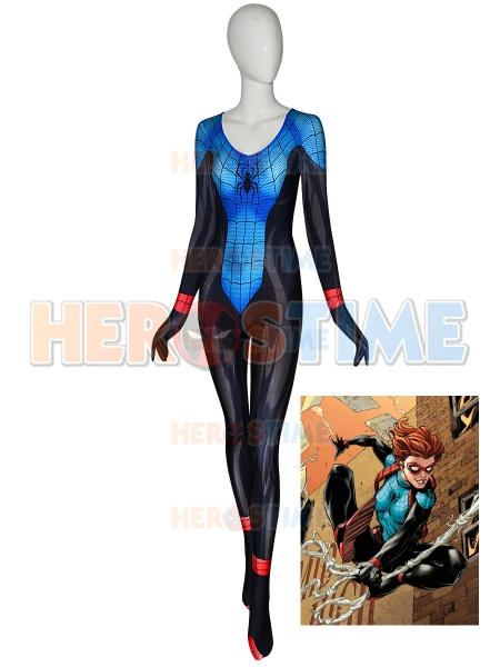 Spider Girl Costume Amazing Spider-Man Renew Your Vows Annie Parker Adults Kids Costume