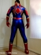 Shiny Metallic Iron Spider Costume Real Iron Spider Blue & Red