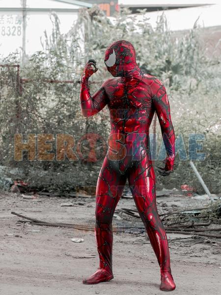 Disfraz de Carnage Disfraz de Spider-Man con sombra muscular masculina