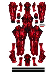 Carnage Costume Spider-Man Costume with Male Muscle Shade