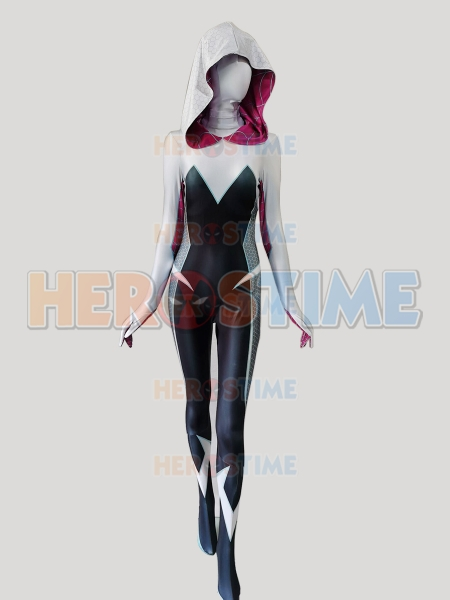 Marvel Rising: Spider-Gwen Costume Ghost-Spider Printing Cosplay Costume